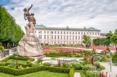 Gardens in Mirabell Palace Royalty Free Stock Image