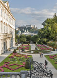 Gardens of Mirabell in Salzburg Old Town, Austria Stock Images