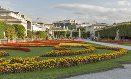 Gardens of Mirabell in Salzburg Old Town, Austria Royalty Free Stock Image