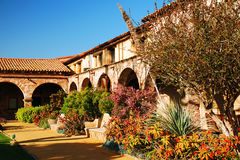 The Gardens of the Mission San Juan Capistrano Stock Photography