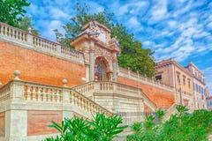 Gardens of Montecavallo Giardini di Montecavallo near Quirinal. Palace Palazzo del Quirinale on Quirinale Square. Rome. Italy Royalty Free Stock Images
