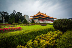 Gardens and the National Theater at Taiwan Democracy Memorial Pa royalty free stock photo