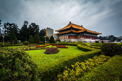 Gardens and the National Theater at Taiwan Democracy Memorial Pa stock image