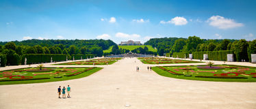 Gardens near Schonbrunn palace Stock Photos