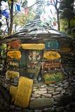 Gardens of Norbulingka Institute of Tibetan Arts, Dharamshala, I Royalty Free Stock Image