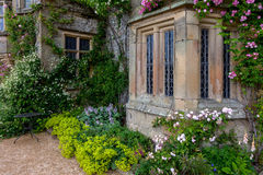 Gardens at an old home in England. Stock Photography