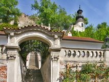 Gardens On Terraces Beneath Prague Castle Stock Photo
