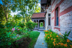 Gardens outside the Katharine Seymour Day House, in Hartford, Co Stock Photos