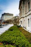 Gardens outside the Pennsylvania State Capitol in Harrisburg, Pe Royalty Free Stock Photo