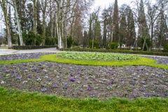 Gardens. Palace of Aranjuez, Madrid, Spain Stock Image
