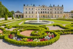 Gardens of the palace Branicki, the historic complex is a popular place for locals, Bialystok, Poland. Gardens of the palace Branicki, the historic complex is a stock photo