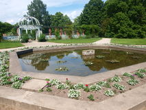 Gardens of the Palace of Lancut, Poland Royalty Free Stock Photo