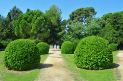 Gardens of Palau Reial de Pedralbes in Barcelona Royalty Free Stock Images