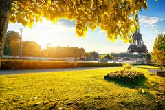 Gardens in Paris in autumn Royalty Free Stock Photography