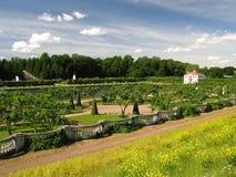 Gardens in Petershof. Petershof gardens in St.Petersburg (Russia Royalty Free Stock Photography