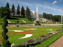 Gardens of Petershof (Russia). Gardens of Petershof in St. Petersburg Royalty Free Stock Photo