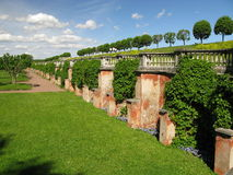 Gardens in Petershof in St. Petersburg. Gardens of Petershof in St. Petersburg (Russia Royalty Free Stock Photos