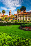 Gardens and Ponce de Leon Hall at Flagler College, St. Augustine Royalty Free Stock Photos