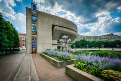 Gardens and Reflection Hall at the Christian Science Plaza, in B Royalty Free Stock Image