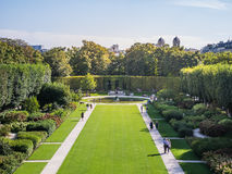 The gardens of the Rodin Museum as seen from a window of the Mus Royalty Free Stock Images