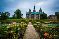 Gardens and Rosenborg Castle Royalty Free Stock Images