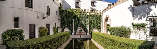 The gardens of the Royal Alcazar. Seville, Spain stock images