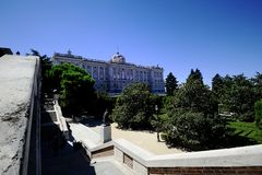 Gardens of the Royal Palace Stock Photography