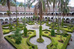 Gardens of San Francisco. High view of one of the gardens of the San Francisco Monastery, Quito Ecuador Stock Photography