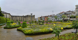 Gardens of Santa Barbara of Braga Royalty Free Stock Images