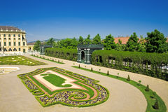Gardens of Schonbrunn palace Royalty Free Stock Photography