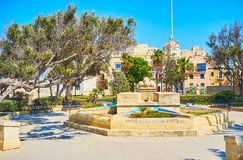 The gardens in Senglea, Malta royalty free stock photos