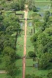 The gardens of Sigiriya,ancient fortress Stock Images