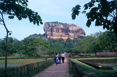 Gardens of Sigiriya Lion's rock fortress Royalty Free Stock Image