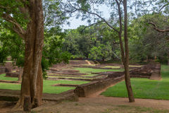 The gardens of Sigiriya Royalty Free Stock Images