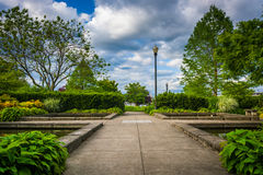 Gardens at the South Waterfront Park in Portland  Stock Image