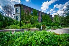 Gardens at Southwest Corridor Park in Back Bay, Boston, Massachu Stock Photo