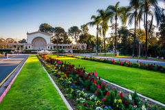 Gardens and Spreckels Organ Pavillion  Stock Images