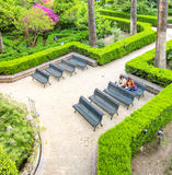 Gardens at spring Royalty Free Stock Photo