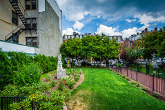 Gardens at St. Leonard`s Church, in the North End of Boston, Mas Stock Images