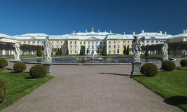 Gardens of the Summer Palace in St Petersburg Royalty Free Stock Image