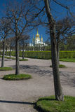 Gardens of the Summer Palace in St Petersburg Royalty Free Stock Images