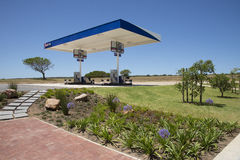 Gardens surround a truck stop on N2 Highway S Africa Stock Images