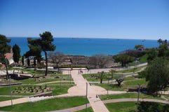 Gardens of Tarragona. Gardens and amphitheater overlooking the sea in Tarragona Royalty Free Stock Images