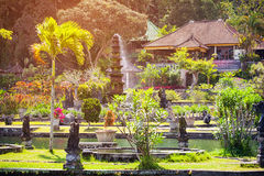 Gardens of Tirta Gangga, the former royal palace in Bali, Indone Stock Photo