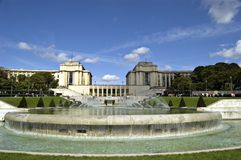The Gardens of the Trocadero. Paris Royalty Free Stock Photo