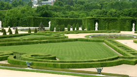 Gardens of Versailles. The lush and well-kept gardens of Versailles, France Royalty Free Stock Photography