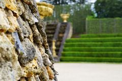 The gardens of Versailles. The gardens at Versailles Chateu in Paris France Royalty Free Stock Images