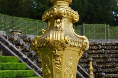 The gardens of Versailles. The gardens at Versailles Chateu in Paris France Stock Photos