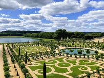 Gardens of the Versailles Palace stock images