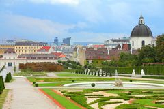 Gardens in Vienna Royalty Free Stock Image